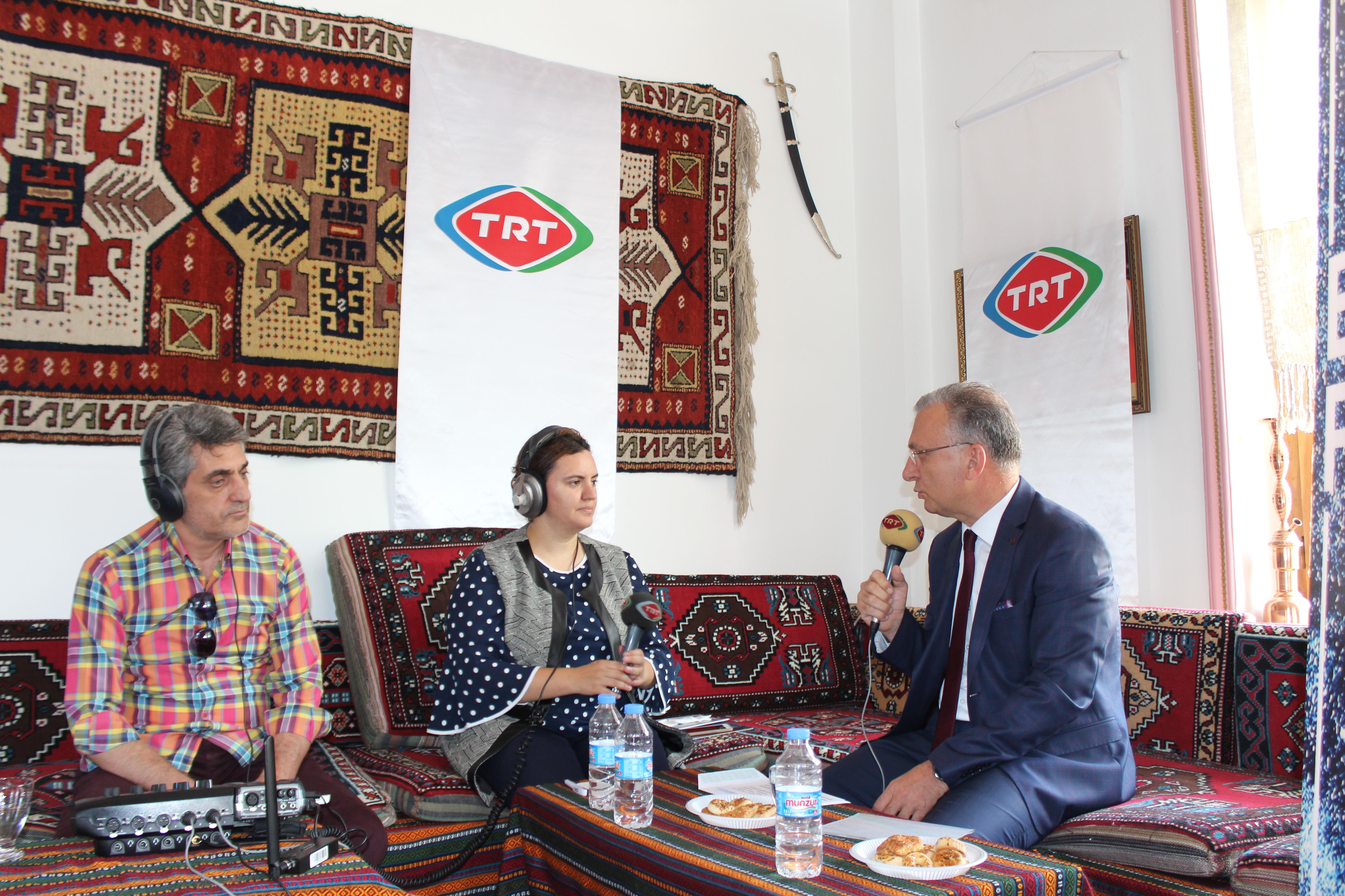 Rektörümüz Prof. Dr. Akın Levent, TRT Erzurum Radyosunun Konuğu Oldu
