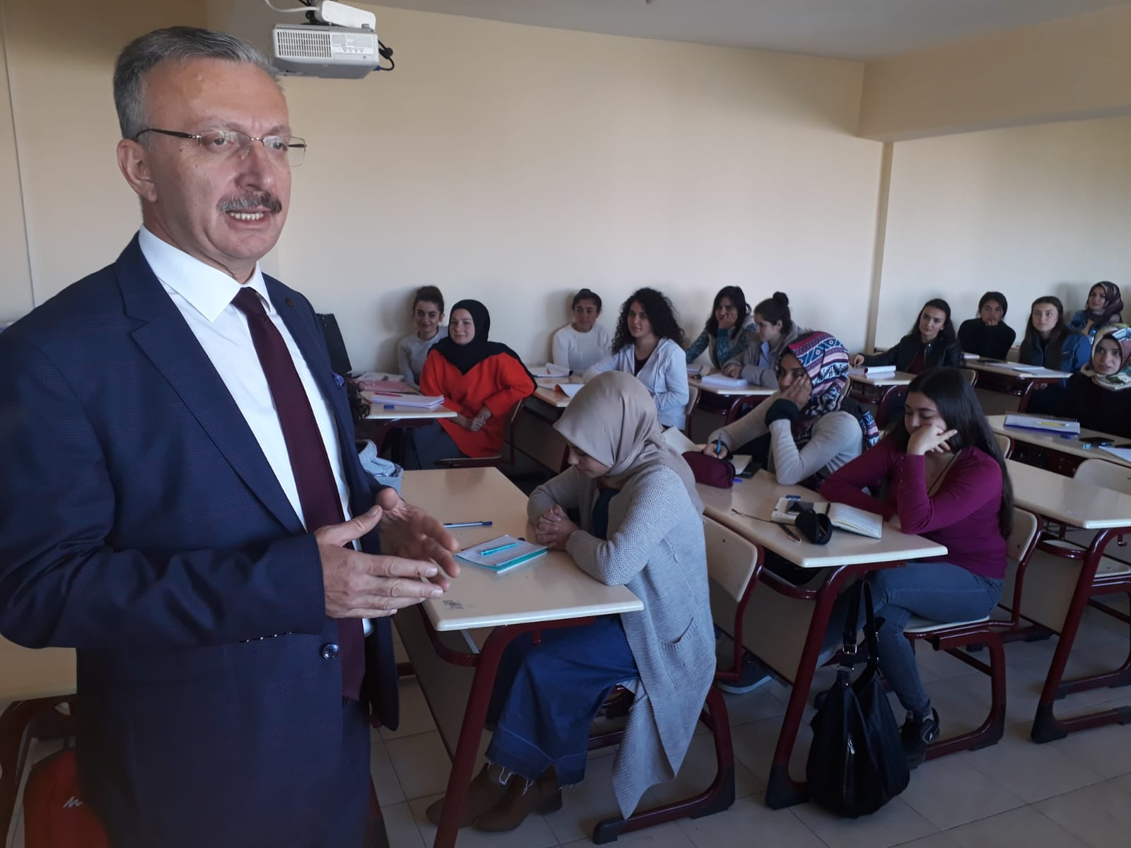 Rektör Prof. Dr. Akın Levent'ten  Tercan MYO' ya Ziyaret