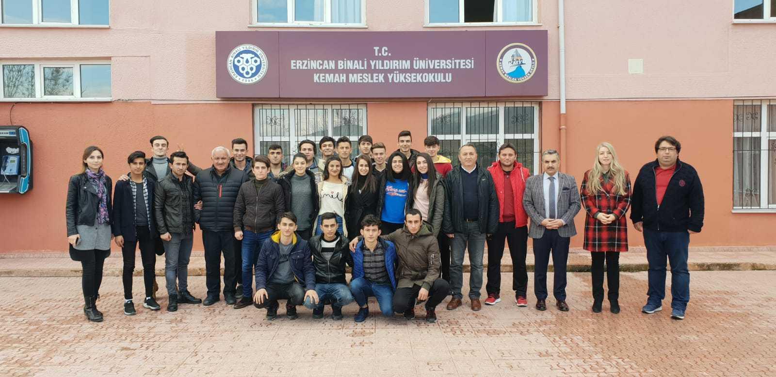 Erzincan Spor Lisesinden Kemah Meslek Yüksekokuluna Gezi
